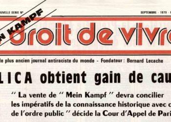 Le Droit de Vivre, septembre 1979