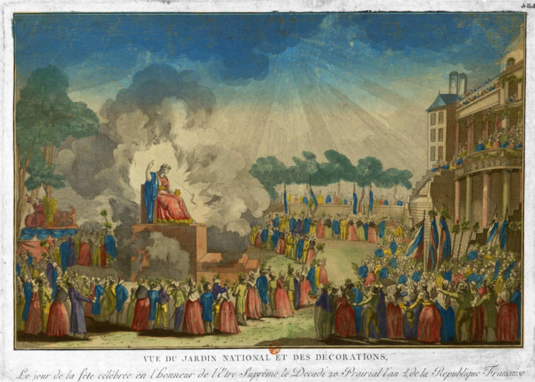Fête de l'Être suprême, le 8 juin 1794 (Musée Carnavalet, Paris)