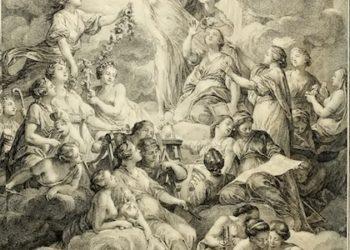 Extrait de l'Encyclopédie de Diderot et d'Alembert : la Vérité rayonne dans la lumière et, à droite, la Raison et la Philosophie lui arrachent son voile. Gravure de Prévost en 1772 (Wikimedia commons)