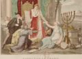Napoléon le Grand rétablit le culte des Israélites le 30 mai 1806. Gravure de Louis-François Couché. Paris, Bibliothèque nationale (WIKIMEDIA COMMONS)
